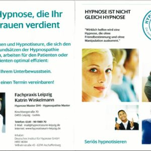 Flyer Hypnospathie - personalisiert